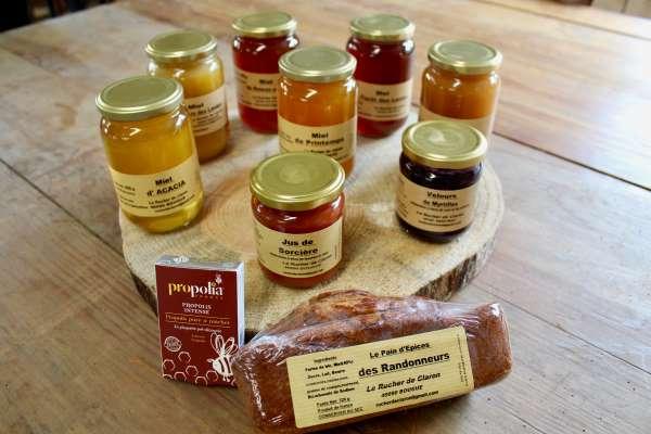 miel pain épice rucher claron landes